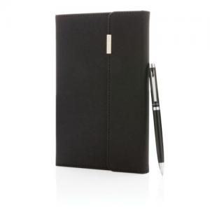 Swiss Peak Deluxe A5 Notizbuch mit Stift